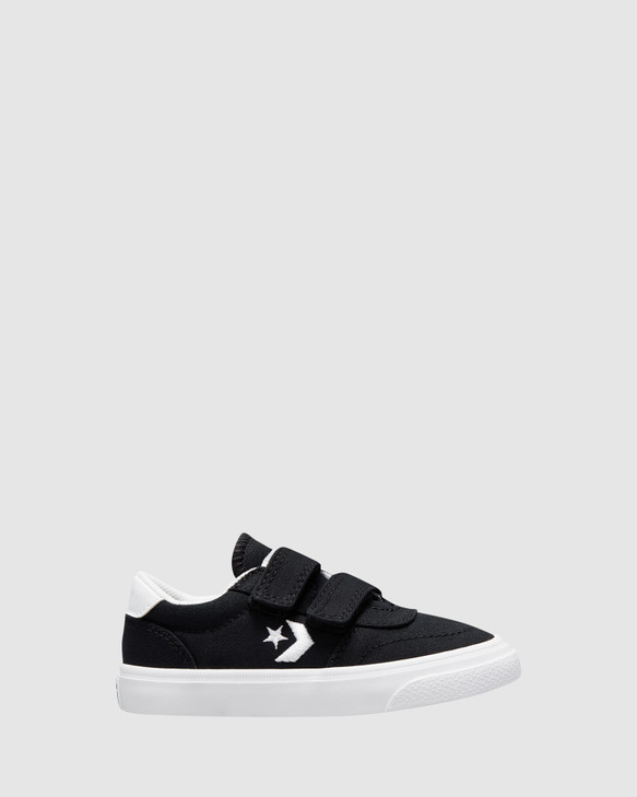 Shoes and Sox Boulevard 2V Canvas Inf B Black/White