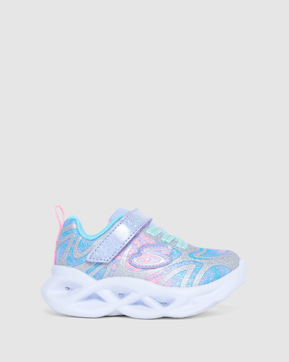 Shoes and Sox Twisty Brights Dazzle Inf Silver Multi