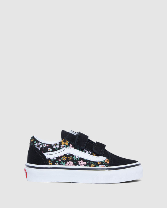 Shoes and Sox Old Skool V Floral Yth G Black/White