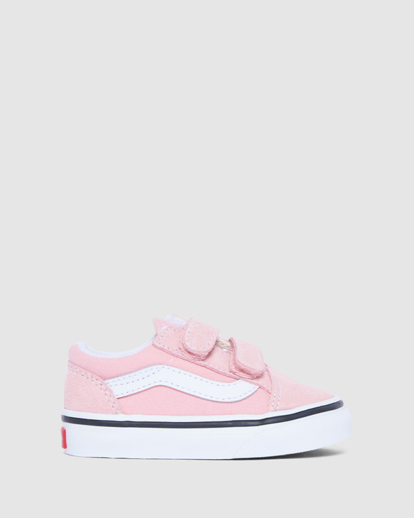 Shoes and Sox Old Skool Suede V Inf G Powder Pink/White