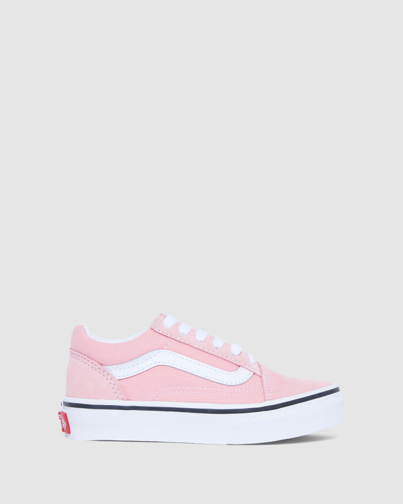 Shoes and Sox Old Skool Suede Yth G Powder Pink/White
