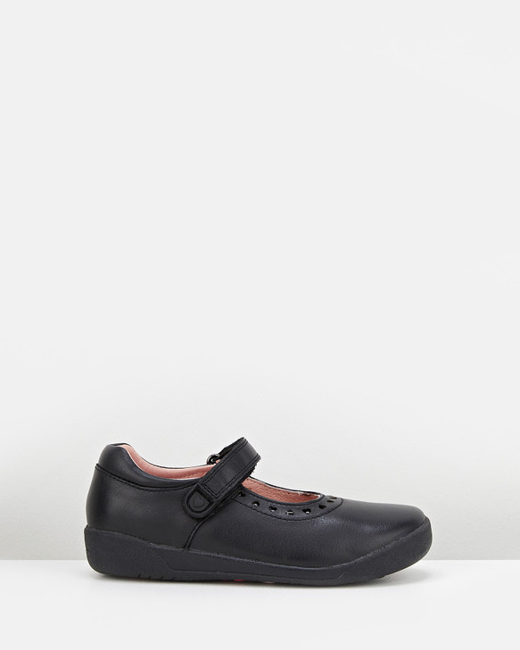 Shoes and Sox Bluebell Ii Black Leather