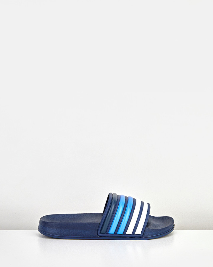 Shoes and Sox Keagan Slide Snr Navy/White