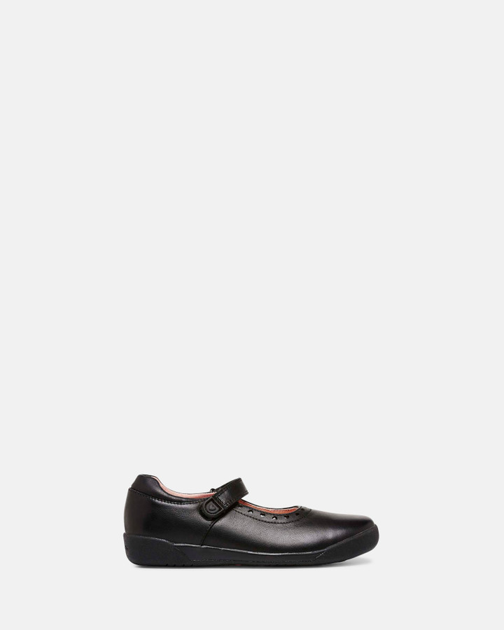 Shoes and Sox Bluebell Black Leather