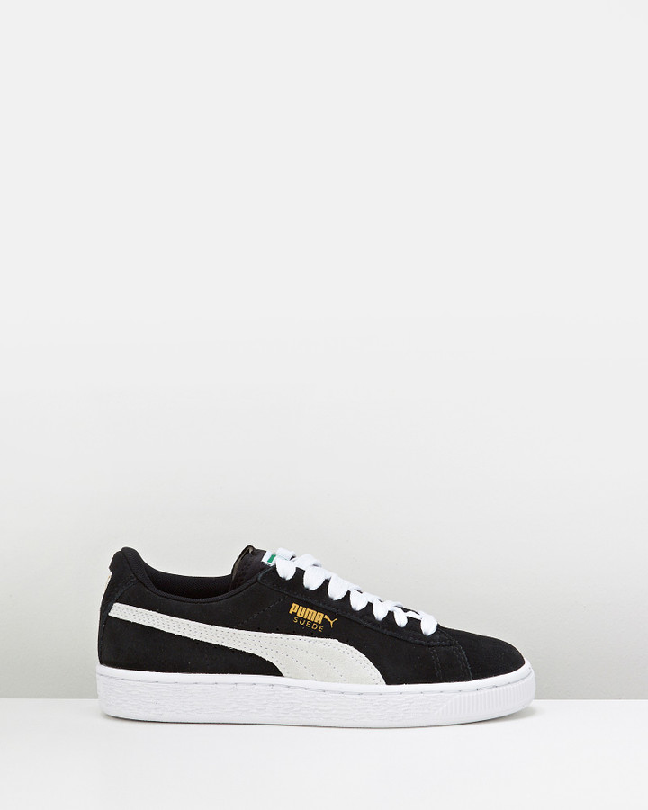 Shoes and Sox Suede Jr Gs B Black/White