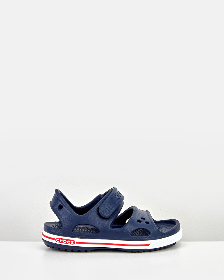 Shoes and Sox Crocband Ii Sandal Navy White