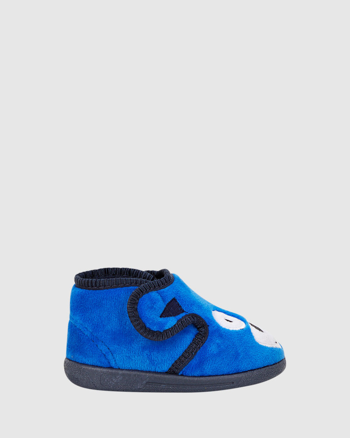 Shoes and Sox Doggy Slipper B Cobalt