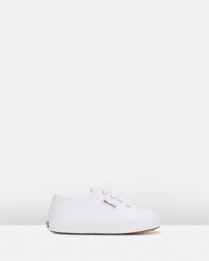 Shoes and Sox 2750  Cot Bump Classic Yth B White