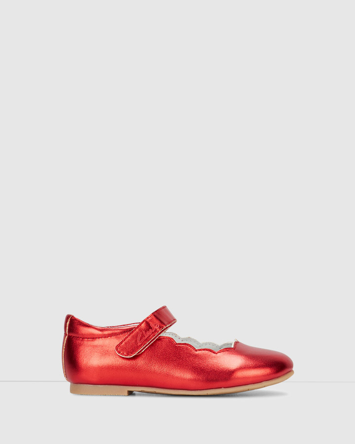 Shoes and Sox Audrey Snr Red Metallic