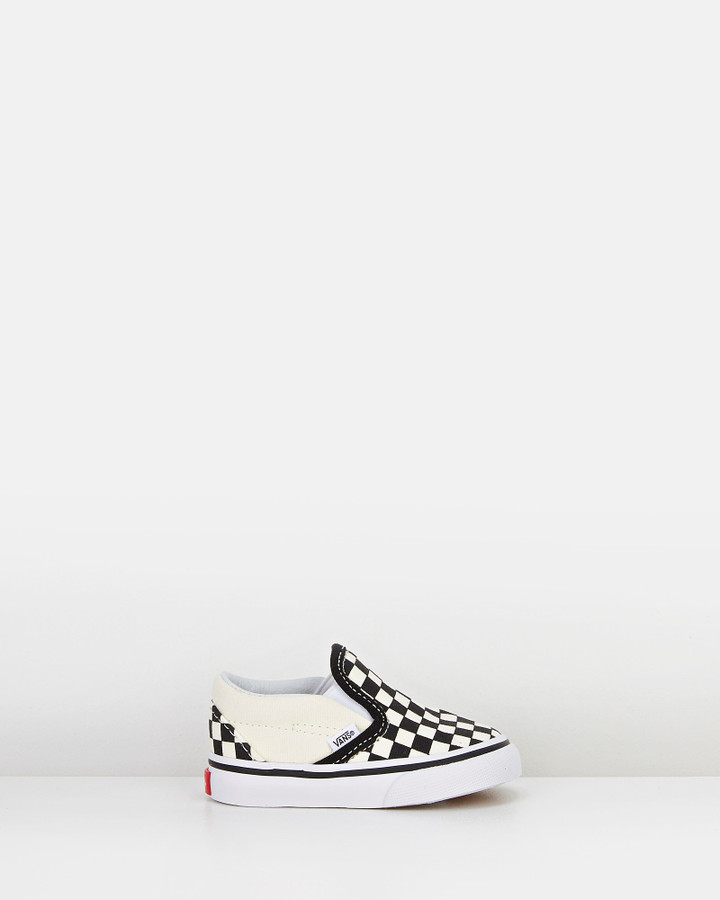 Shoes and Sox Classic Slip On Inf B Black/White