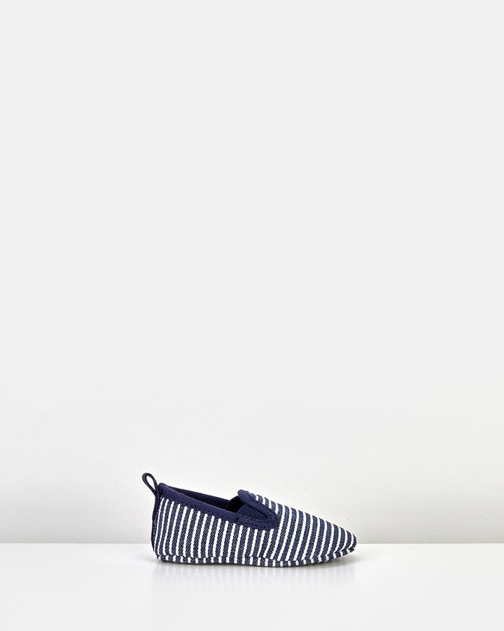 Shoes and Sox Mini Classic Charlie   Stripe Navy/Cream