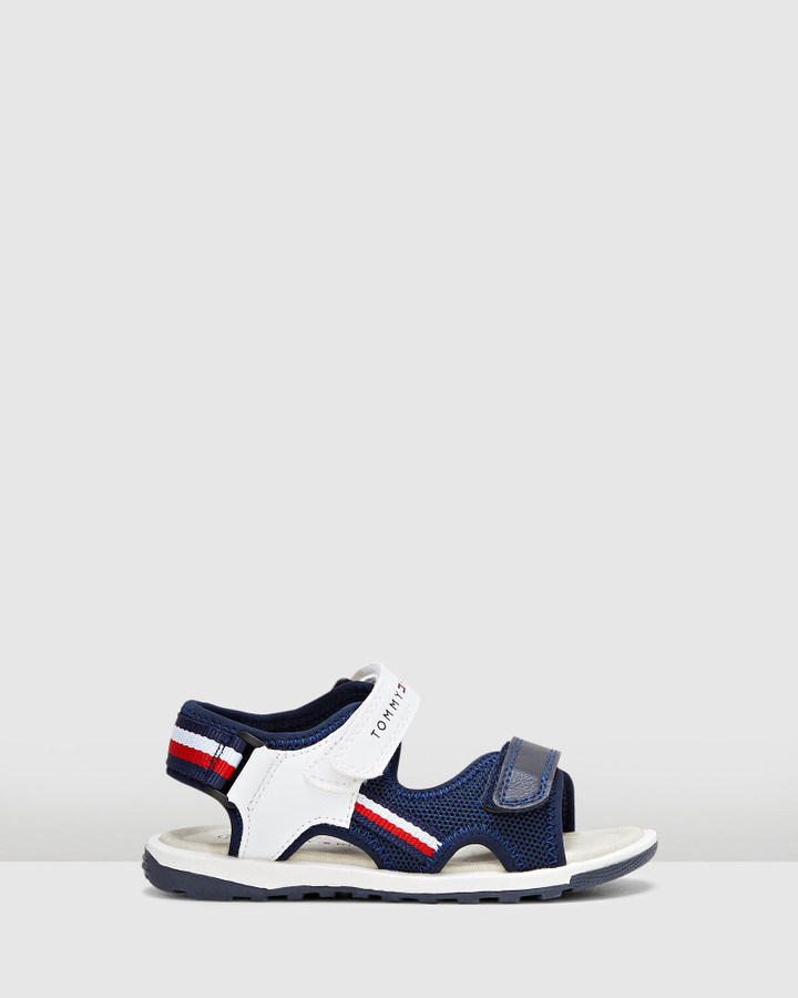 Shoes and Sox Th Sf Fabric Sandal Navy/White/Red