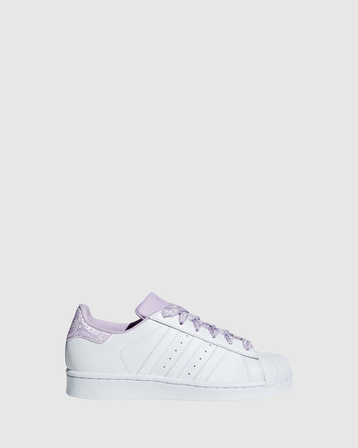 Shoes and Sox Superstar Foundation Gs G White/Purple Glow