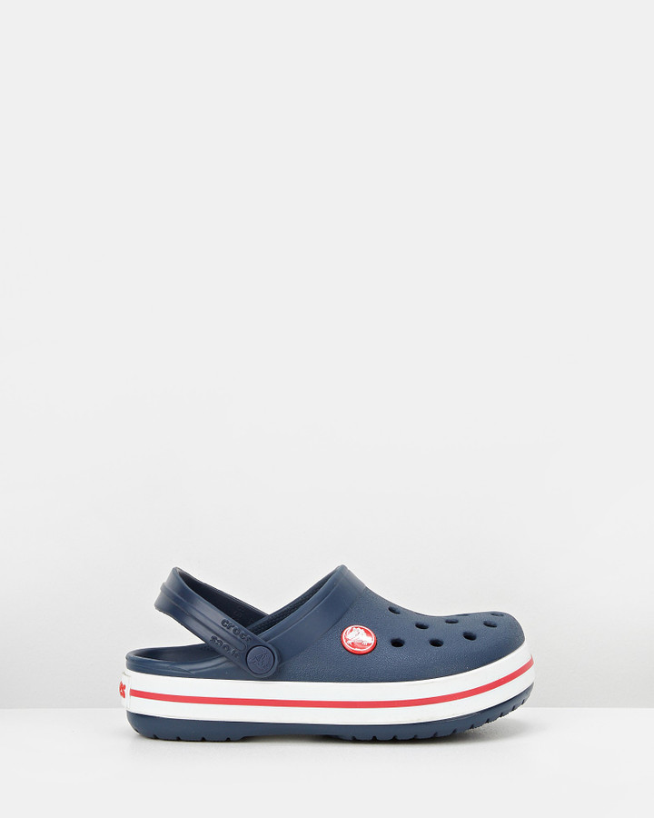 Shoes and Sox Crocband Clog K Navy/Red