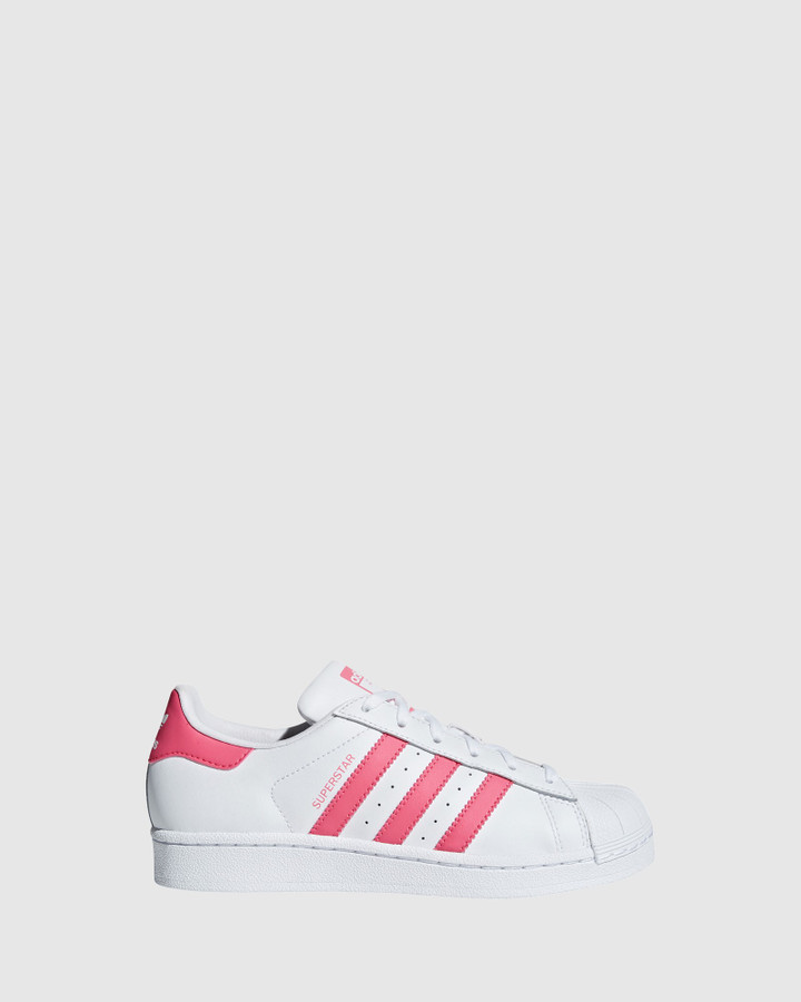 Shoes and Sox Superstar Foundation Gs G White/Real Pink