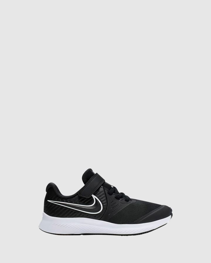 Shoes and Sox Star Runner 2 Ps B Black/White/Black