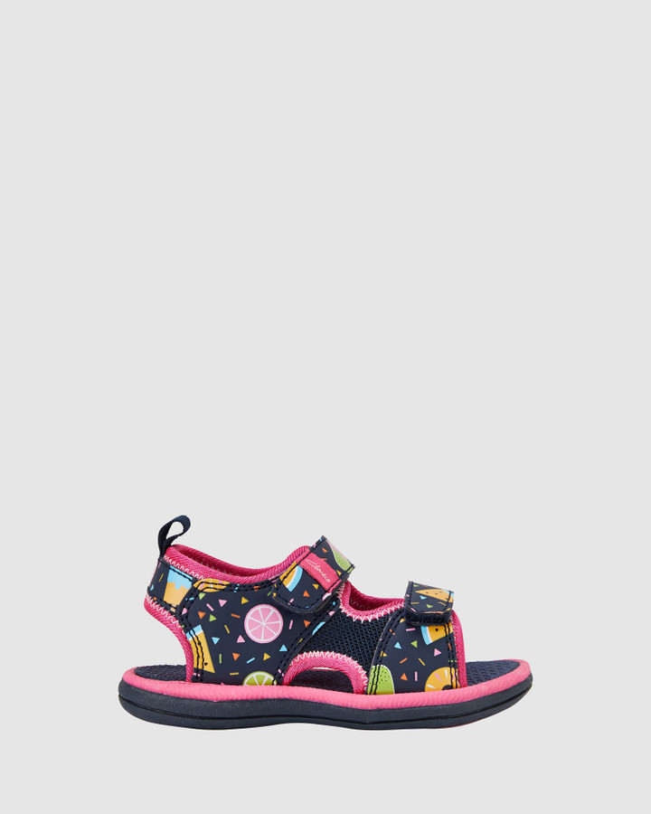 Shoes and Sox Frida Navy Fruit/Fuchsia
