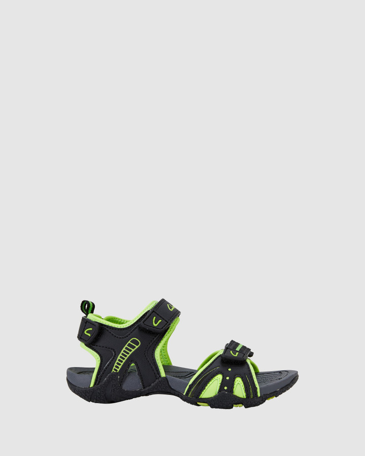 Shoes and Sox Nail Black/Lime