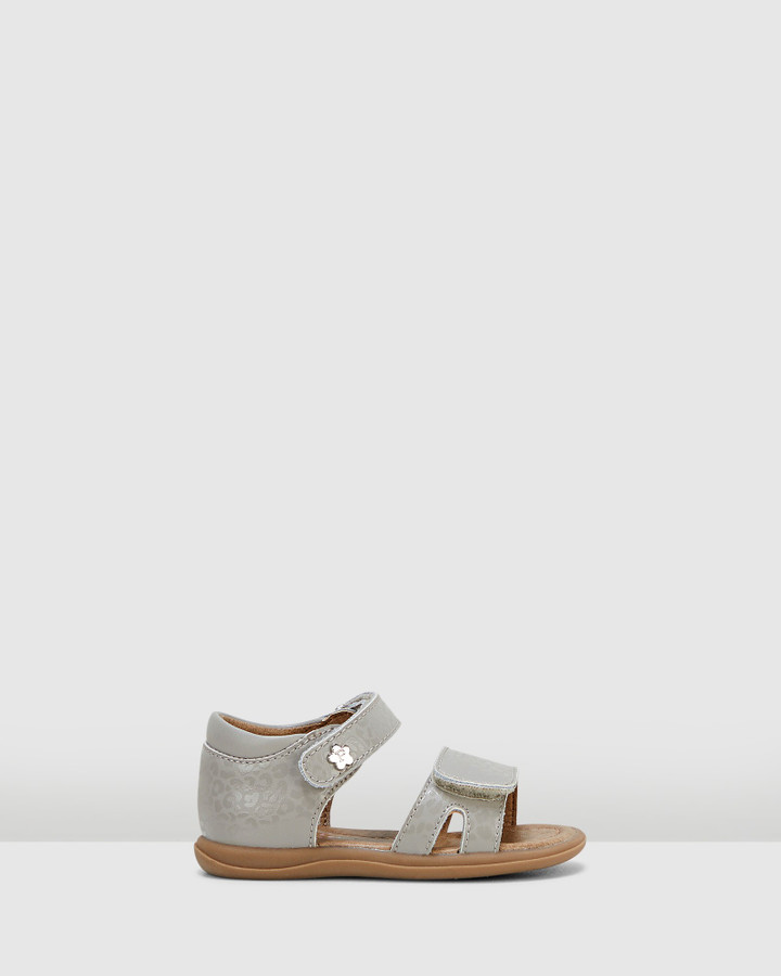 Shoes and Sox Jane Spotted Sf Sandal Inf G Grey