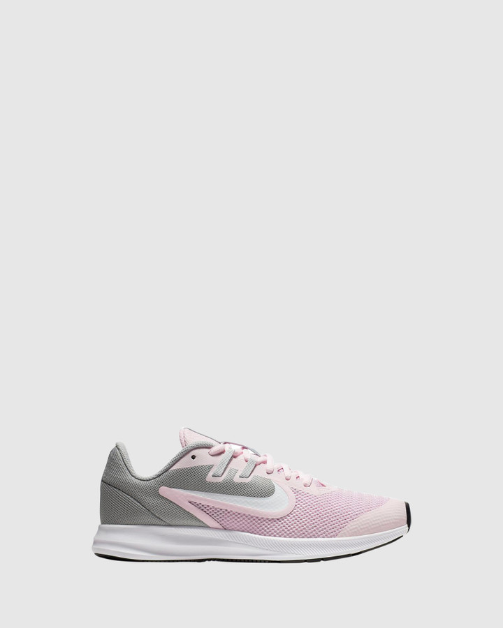 Shoes and Sox Downshifter 9 Gs G Pink Foam/White