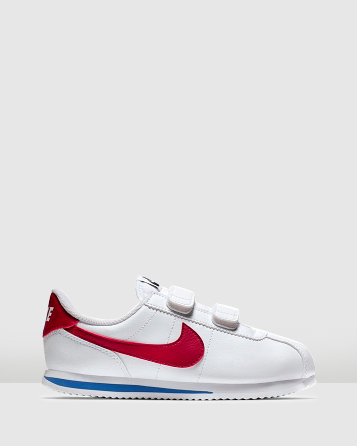 Shoes and Sox Cortez Ps B White/Red/Royal