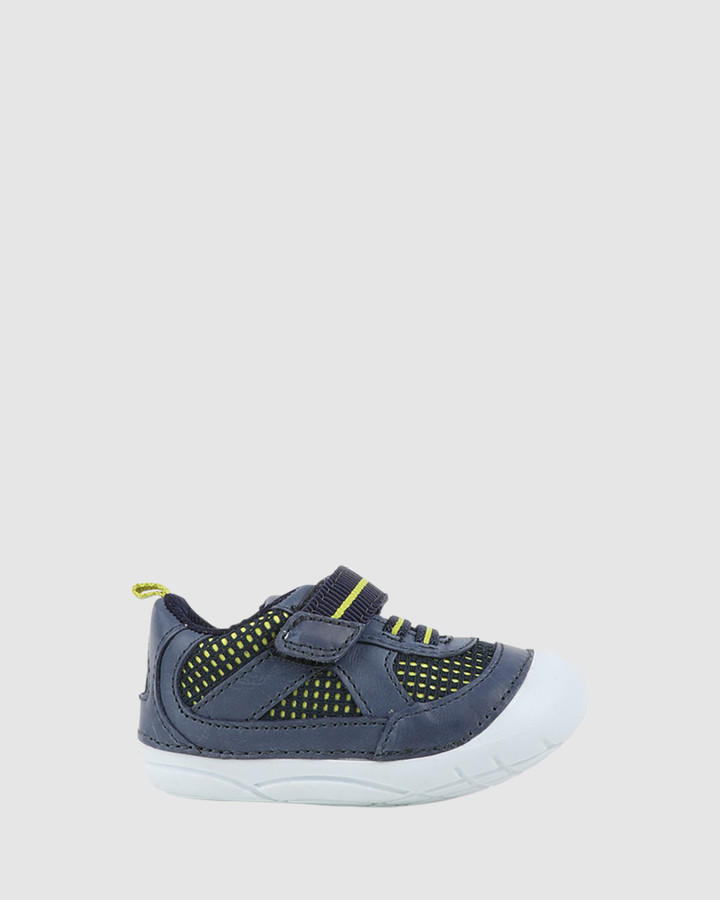 Shoes and Sox Billy B Navy/Lime