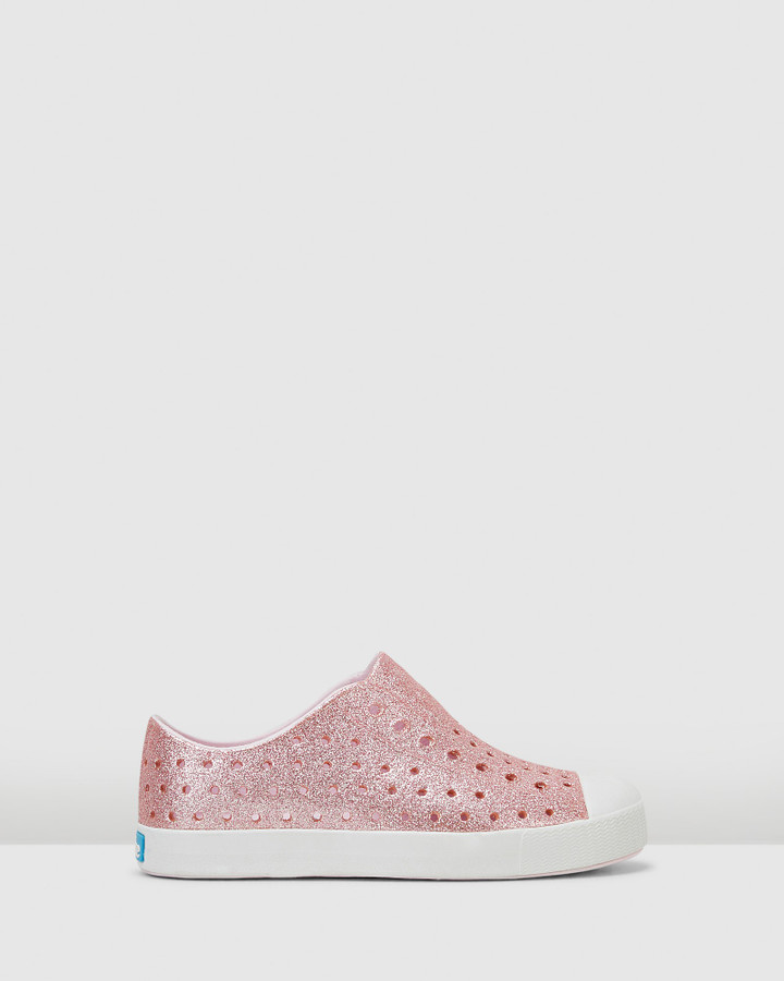 Shoes and Sox Jefferson Bling G Yth Pink Glitter
