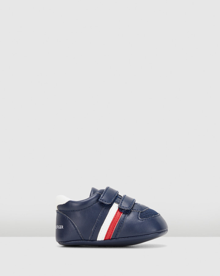 Shoes and Sox Th Sf Flag Ii Crib Navy/Red/White