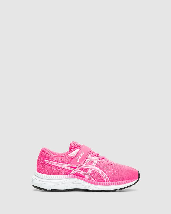 Shoes and Sox Pre Excite 7 Ps G Hot Pink/White