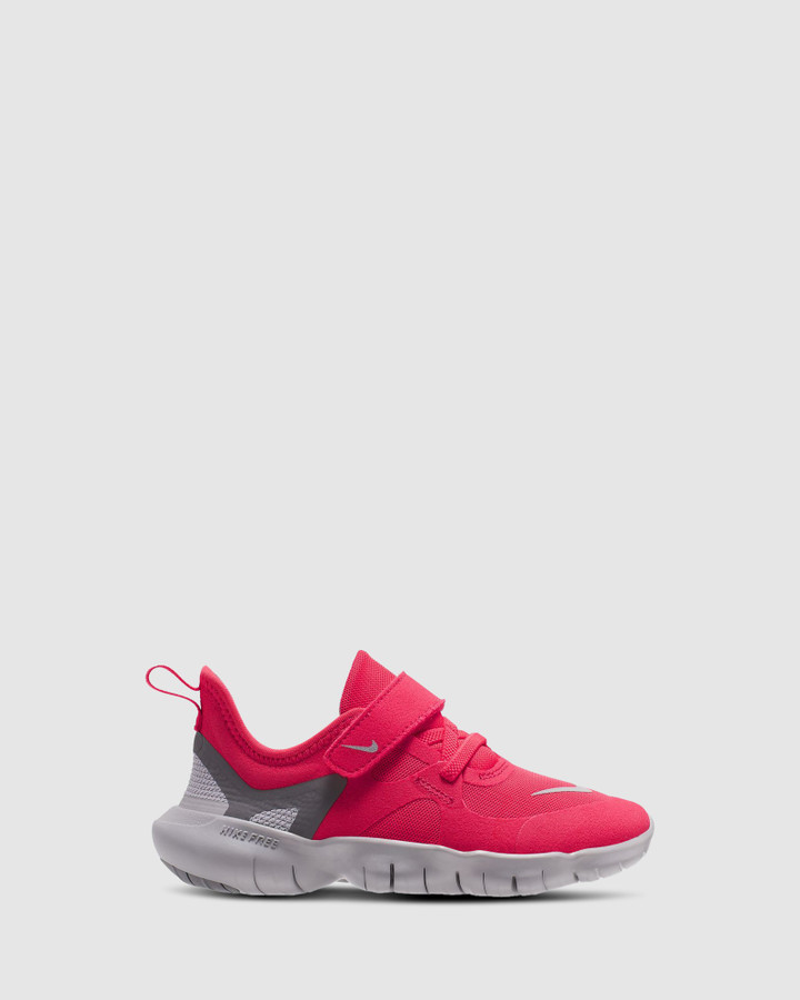 Shoes and Sox Free Rn 5.0 Ps G Laser Crimson/Grey