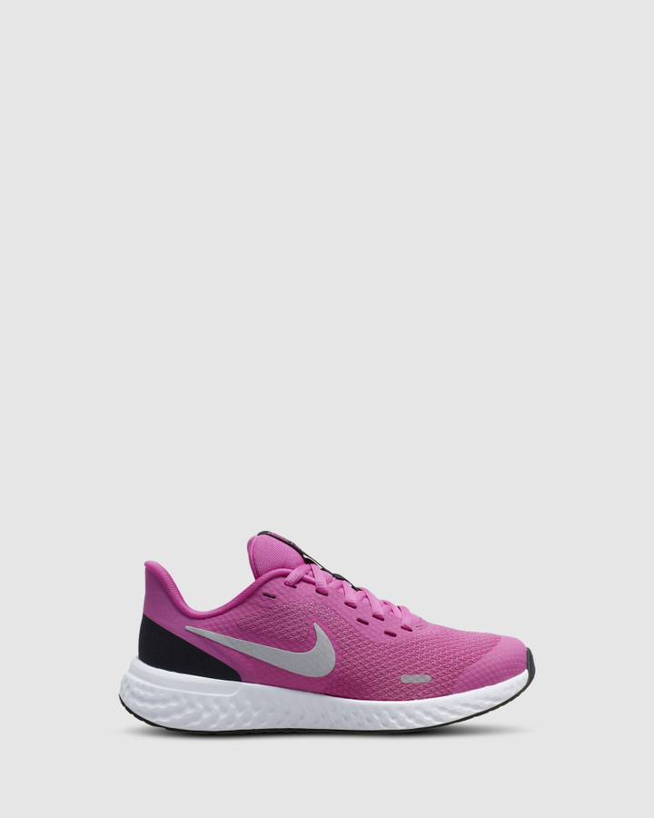 Shoes and Sox Revolution 5 Gs G Fuchsia/Silver/Black