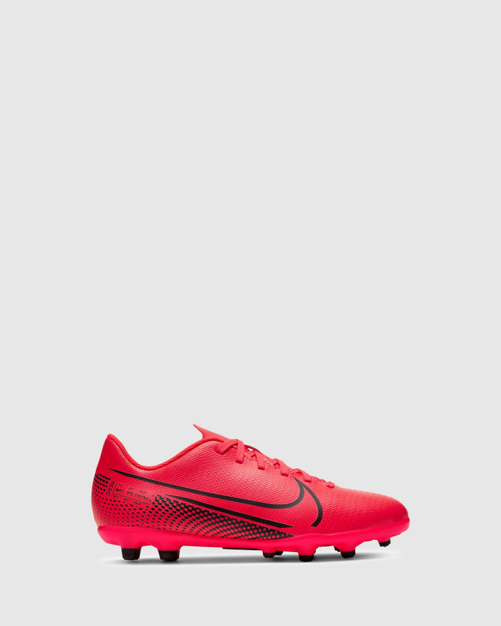 Shoes and Sox Mercurial Vapor 13 Fg/Mg Gs Laser Crimson/Black