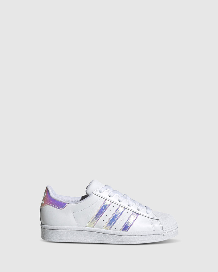 Shoes and Sox Superstar Foundation Gs G White/Silver Hologram
