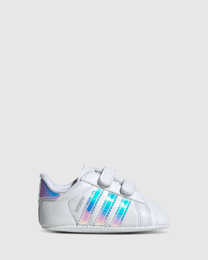 Shoes and Sox Superstar Crib G White/Hologram