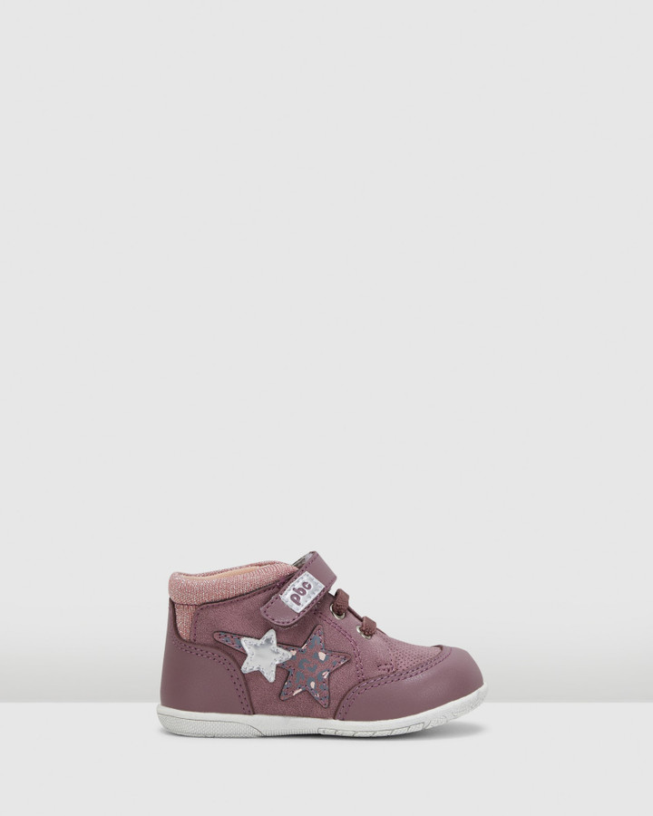 Shoes and Sox Tomer Spotted Star Boot G Purple