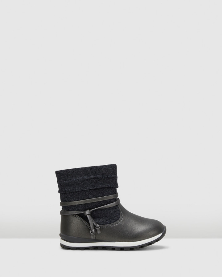Shoes and Sox Tamar Lace Boot Inf G Grey