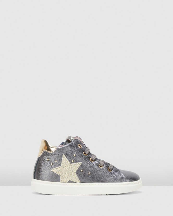 Shoes and Sox Star Boot G 4761 Yth Grey/Gold