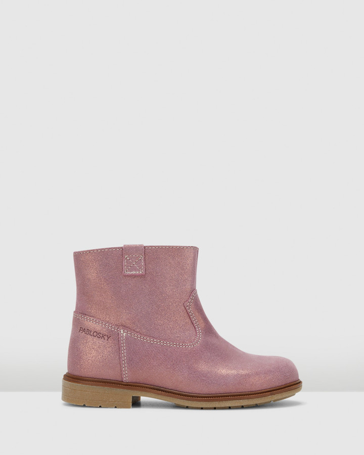 Shoes and Sox Shimmer Boot G 4751 Yth Rose