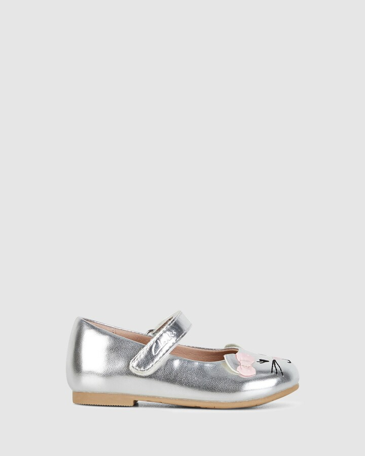 Shoes and Sox Alice Silver/Pink Bow