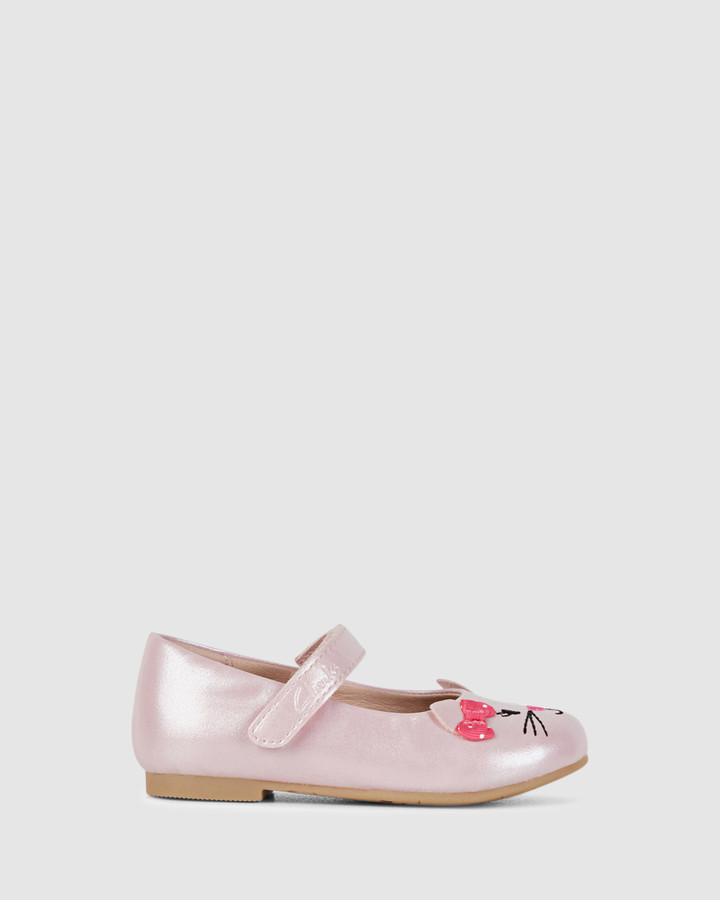 Shoes and Sox Alice Pale Pink Pearl/Pink Bow