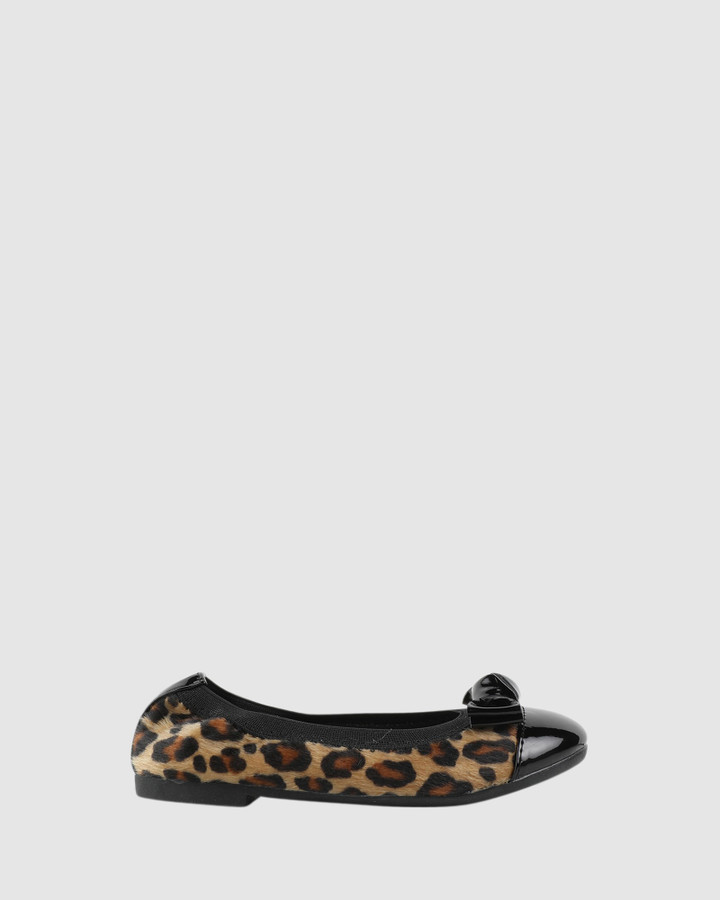 Shoes and Sox Charm Ballet Leopard