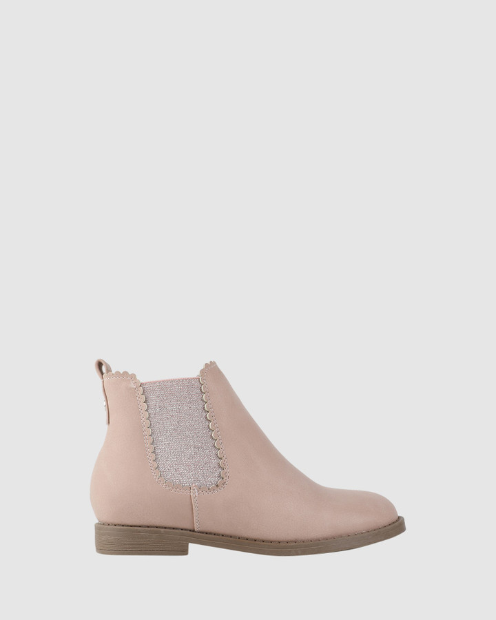 Shoes and Sox Emmalyn Boot Nude Pink