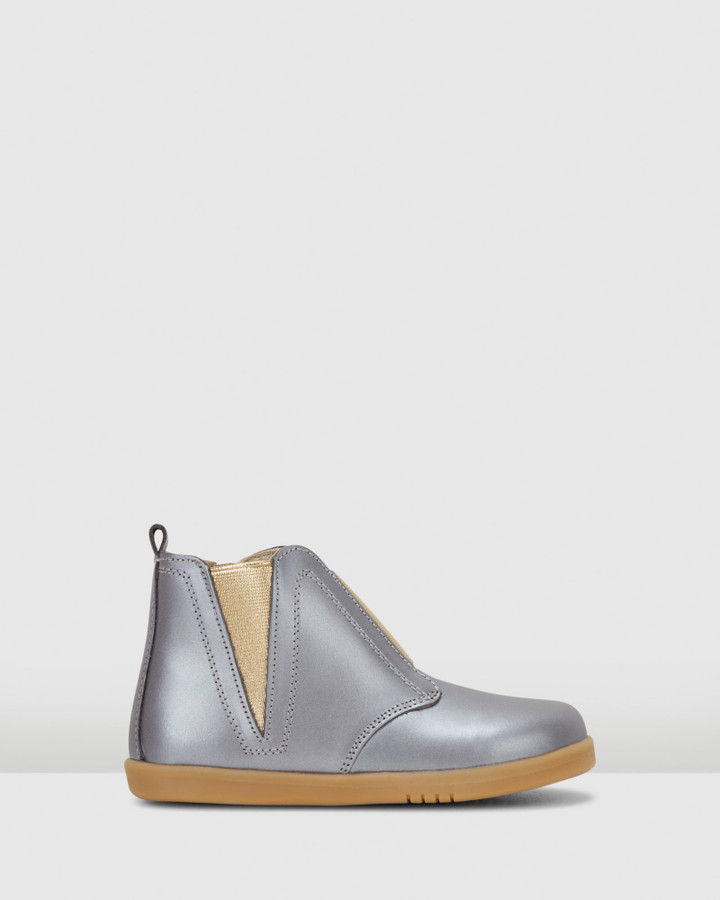 Shoes and Sox Kid+ Signet Boot Charcoal Dust