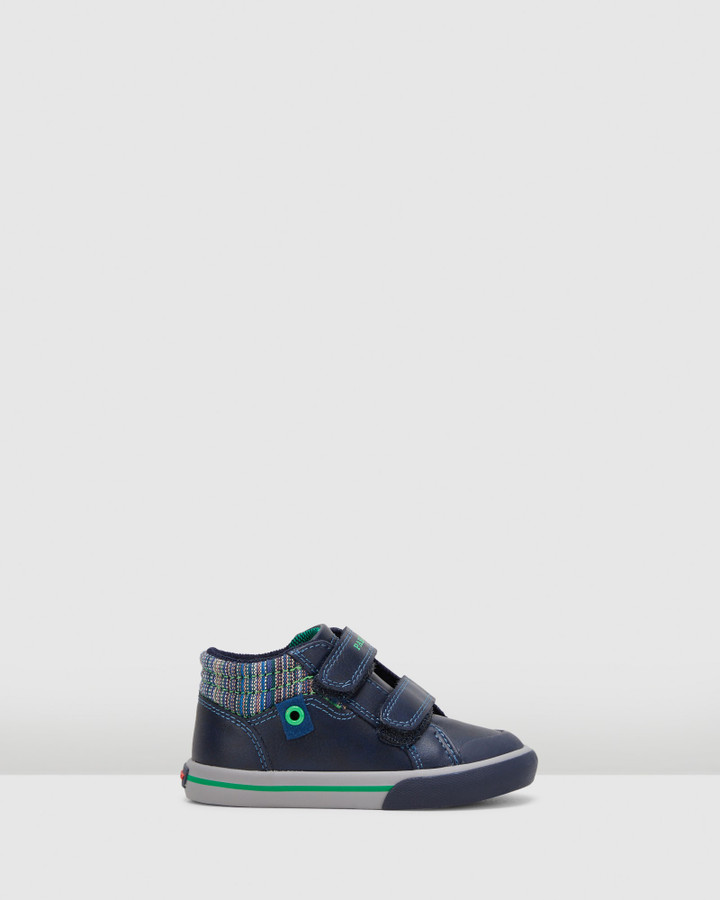 Shoes and Sox Sf Strap Boot B 9583 Inf Navy/Green