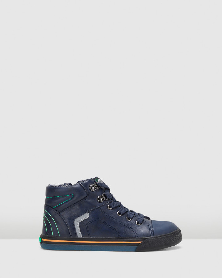 Shoes and Sox Lace Boot B 958620 Yth Navy