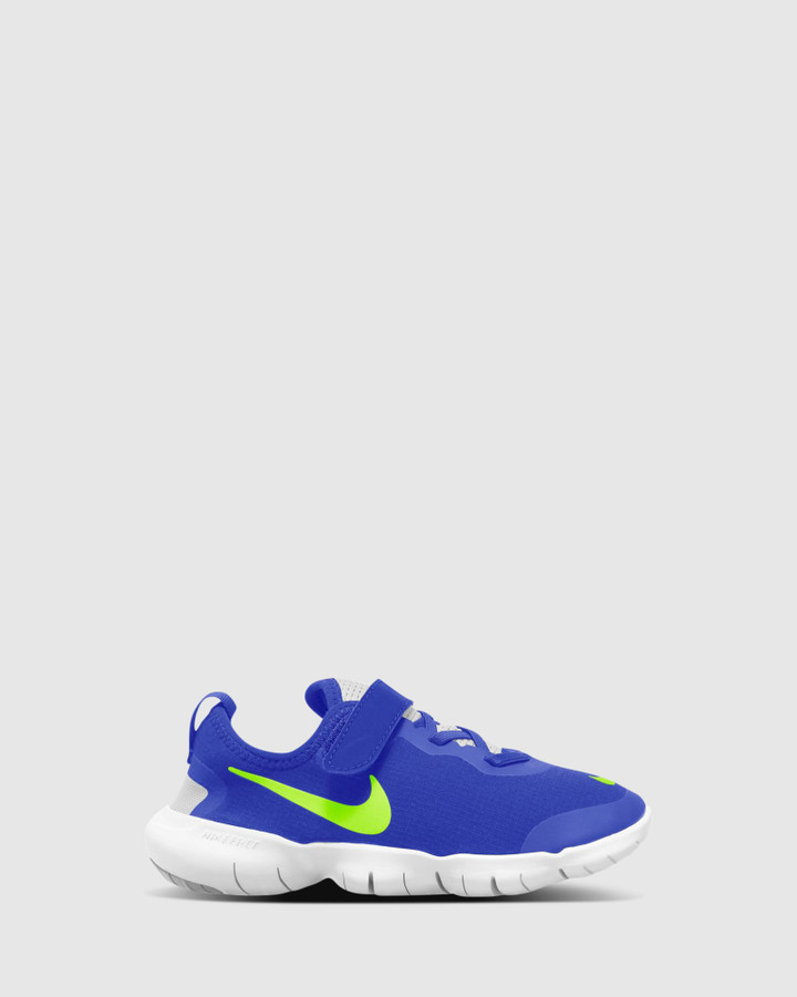 Shoes and Sox Free Rn 5.0 Ii Ps B Hyper Royal/Ghost Green