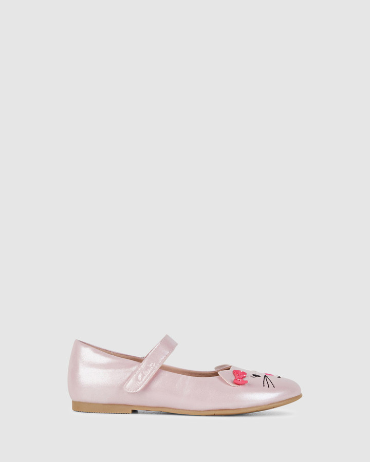 Shoes and Sox Alice Snr Pale Pink Pearl/Pink Bow