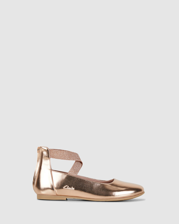 Shoes and Sox Abigail Rose Gold