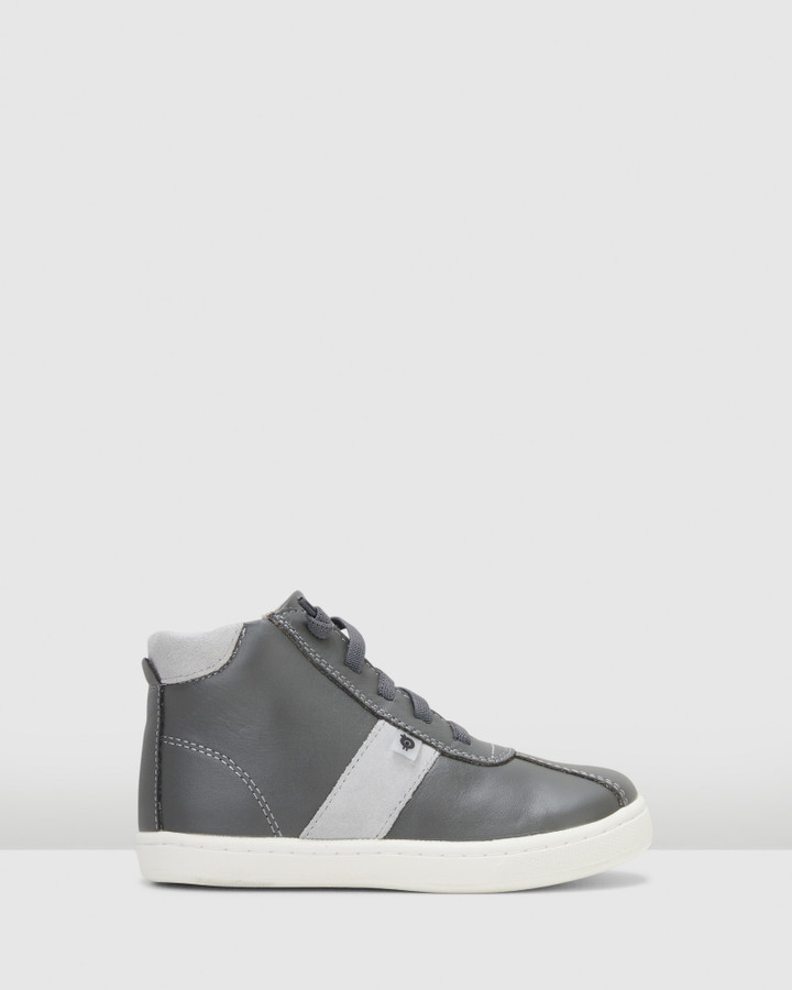 Shoes and Sox Hypen High Top Grey/Grey Suede