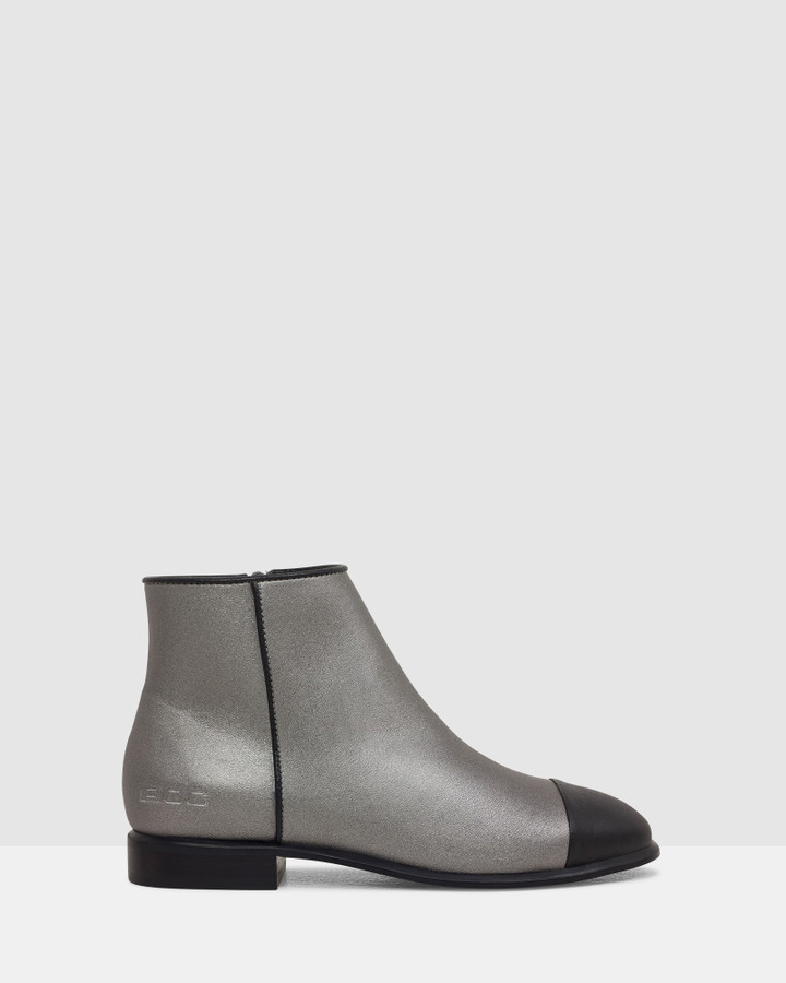 Shoes and Sox Sting Boot Gunmetal/Black